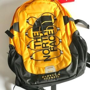 North Face Borealis Classic backpack NEW yellow